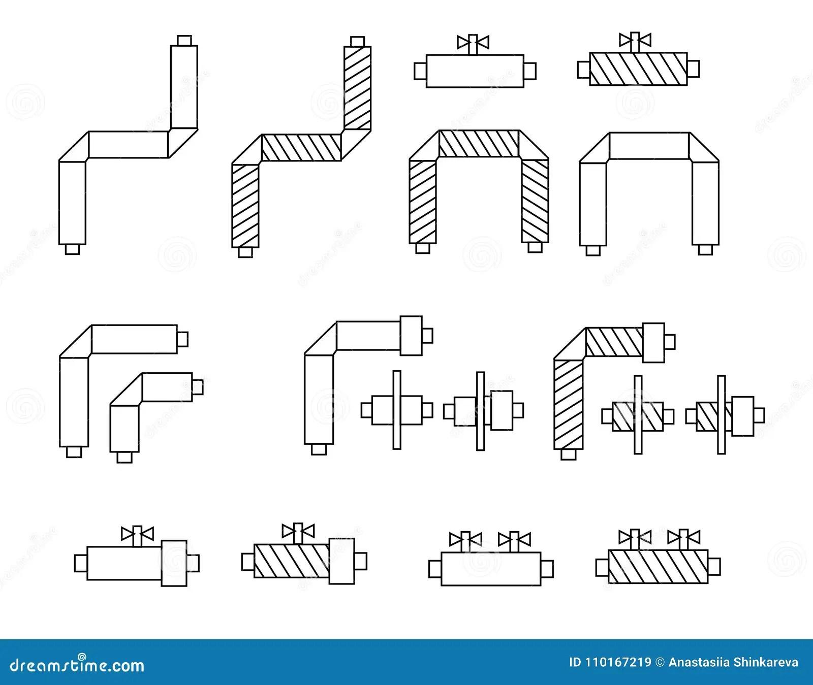 Icone Dei Tubi Nelle Componenti Dell Isolamento E Della