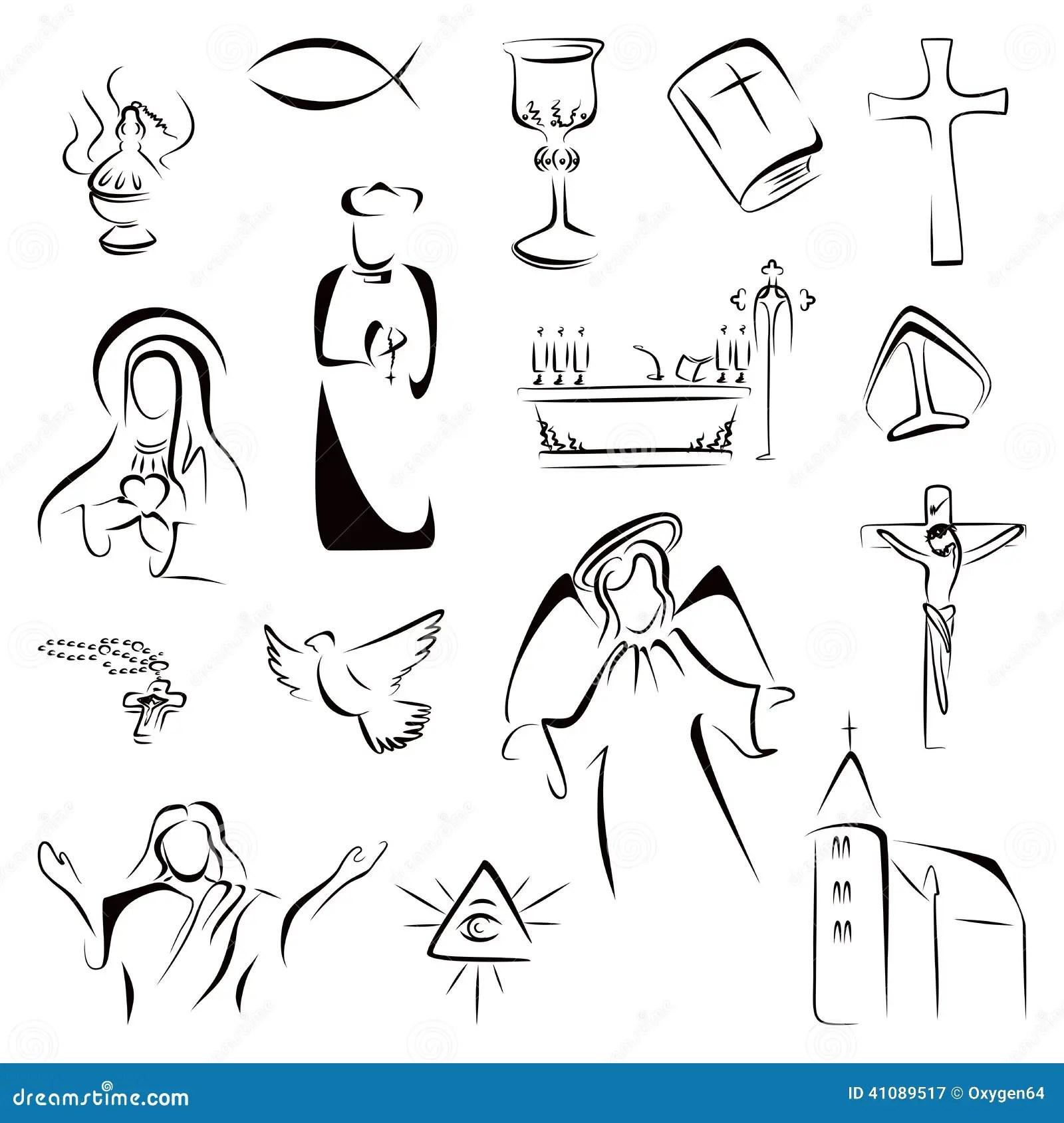 Icone Di Religione Illustrazione Vettoriale Illustrazione