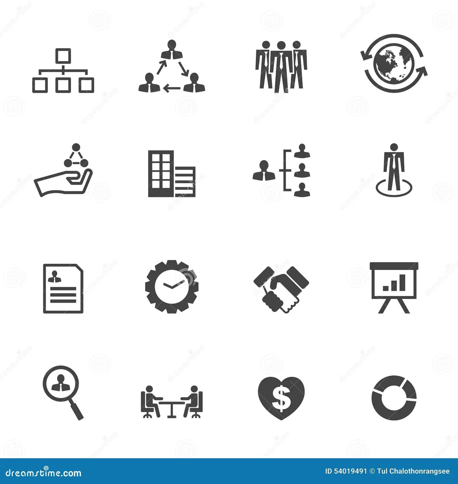 Iconos De La Organizacion Ilustracion Del Vector