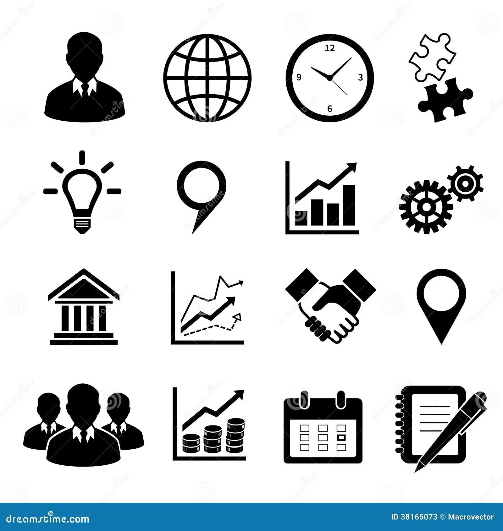 Iconos Del Negocio Fijados Para El Infographics