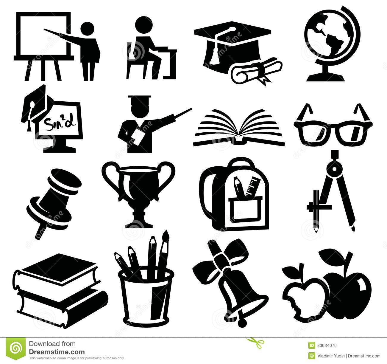Icons Set Education Stock Vector Illustration Of Learn