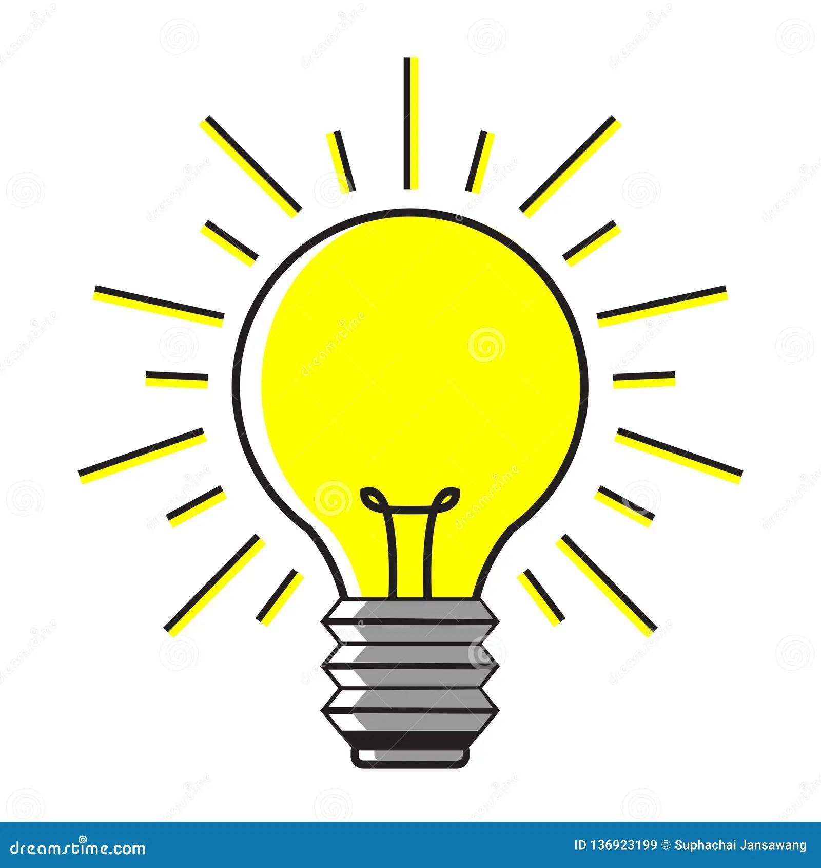 ampoule sur le fond blanc illustration