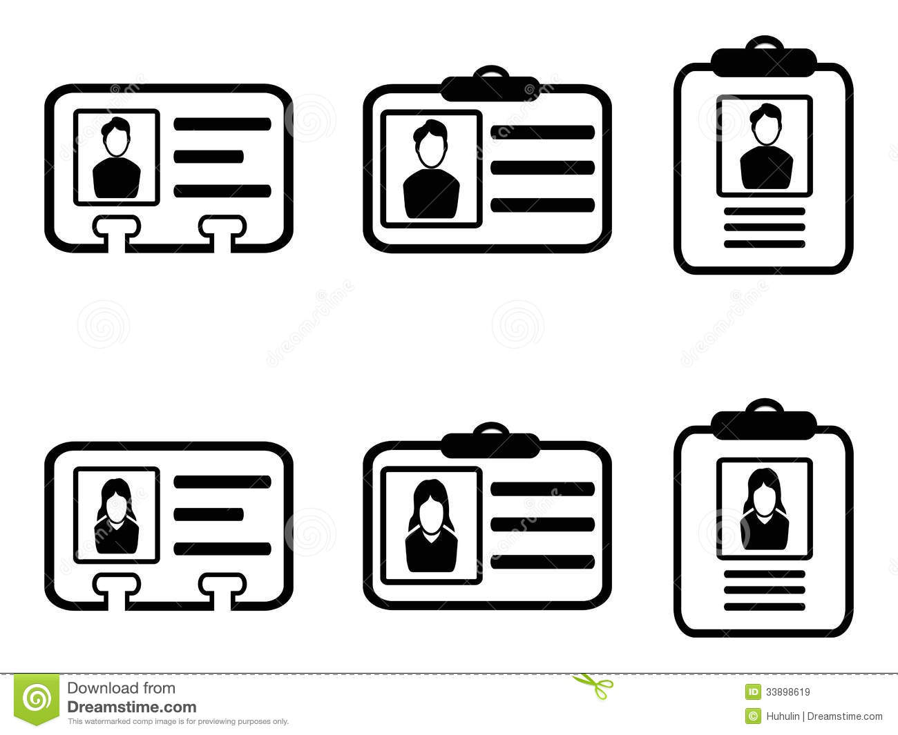 Id Card Icons Stock Vector Image Of Information Business