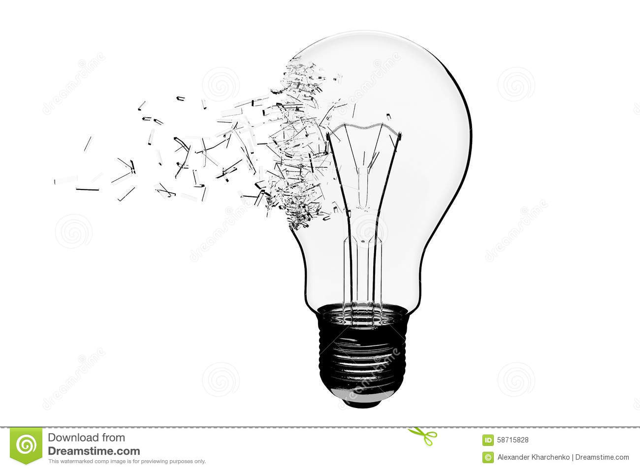 Idea Concept Light Bulb Exploding Stock Illustration