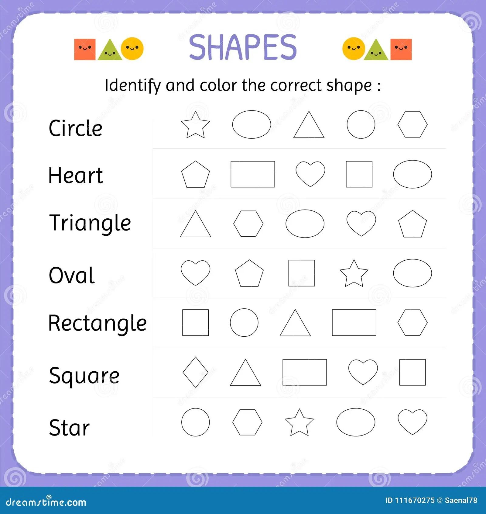 Identifique Y Coloree La Forma Correcta Aprenda Las Formas