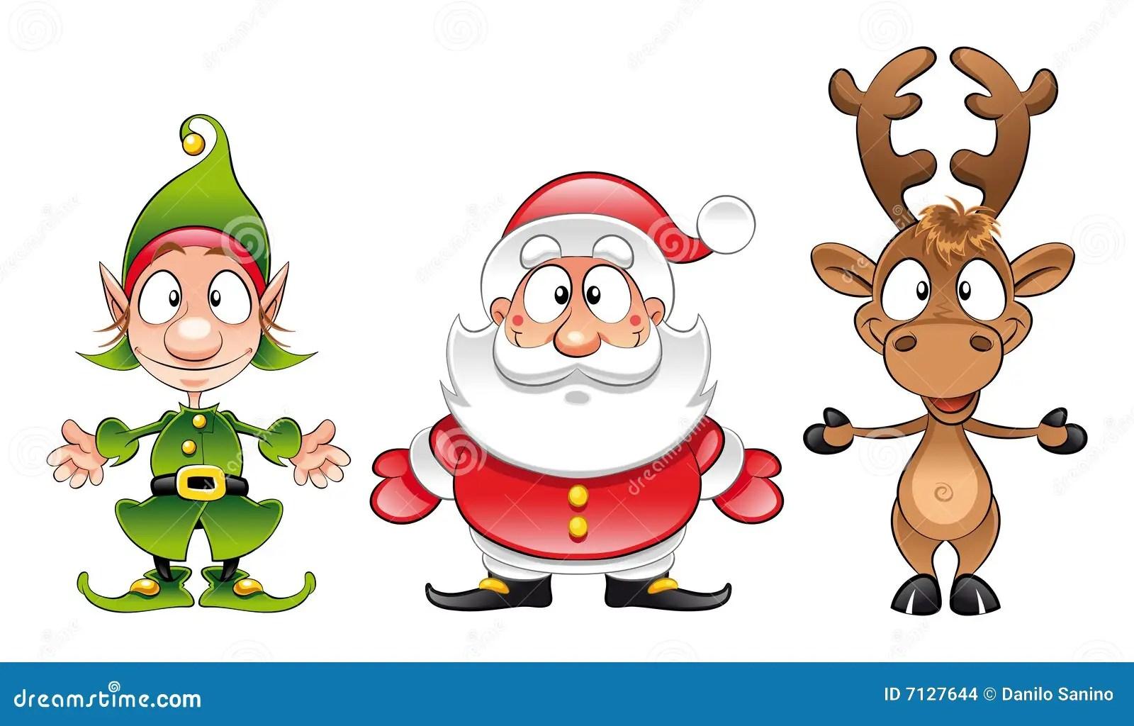 Il Babbo Natale Elfo Rudolph Illustrazione Vettoriale