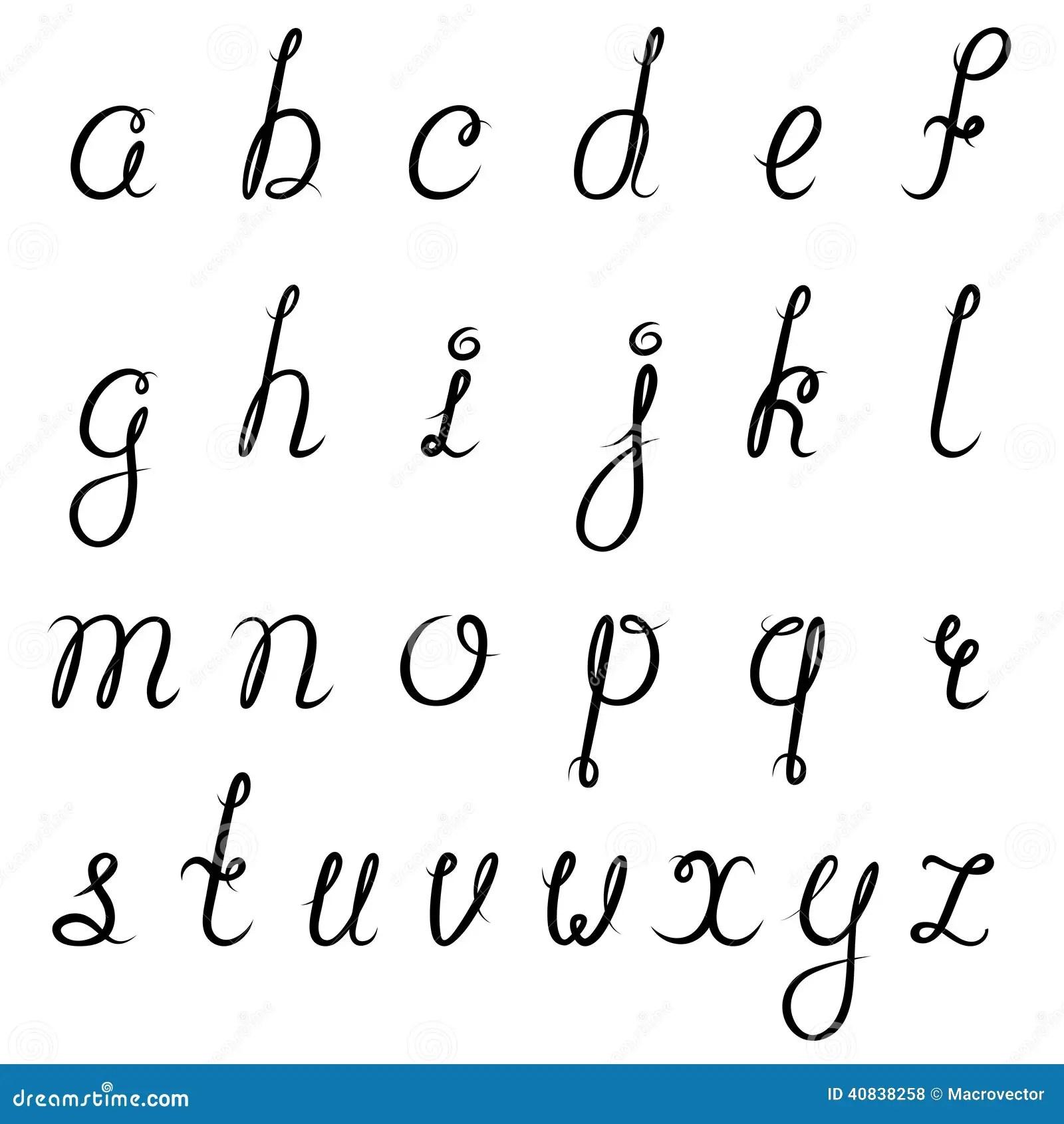 Il Nero Di Alfabeto Di Calligrafia Illustrazione