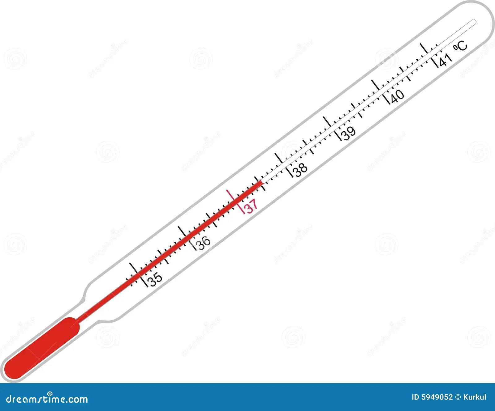 Illness And Thermometer Stock Illustration Illustration