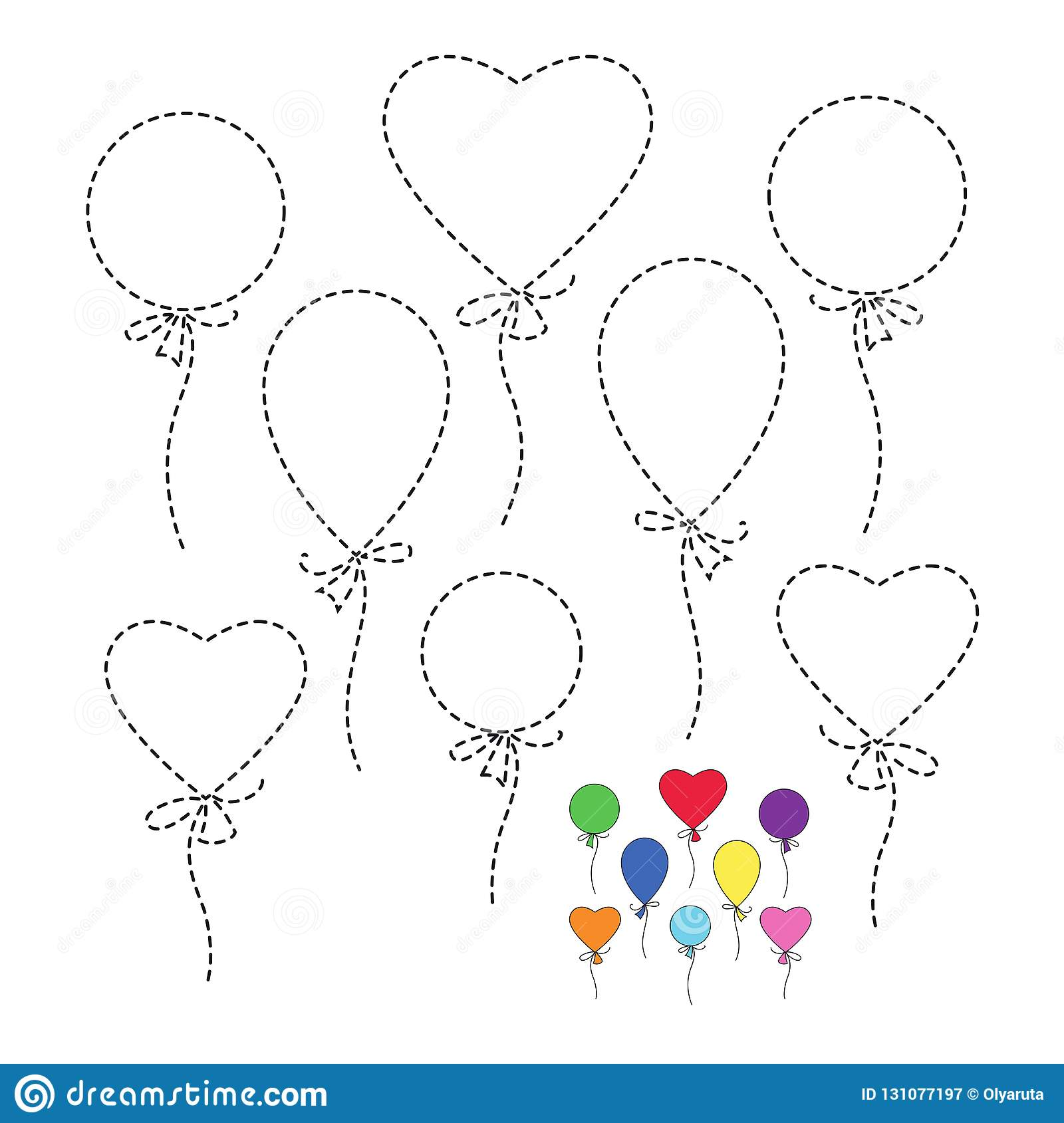 Illustration Of Balloons For Toddlers Stock Vector