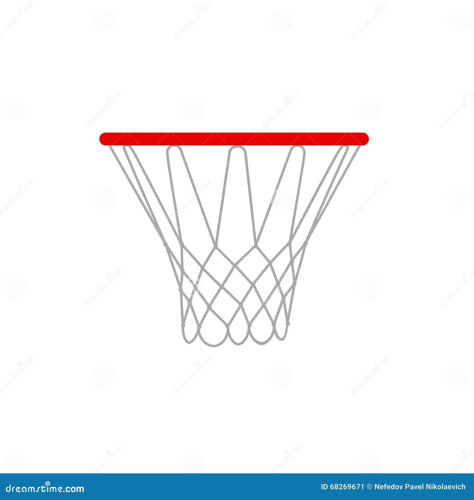 Basketball Hoop Isolated Stock Photography