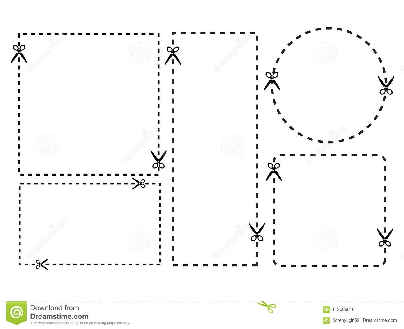 Illustration Of A Cut Out Coupon Rectangle Shape With