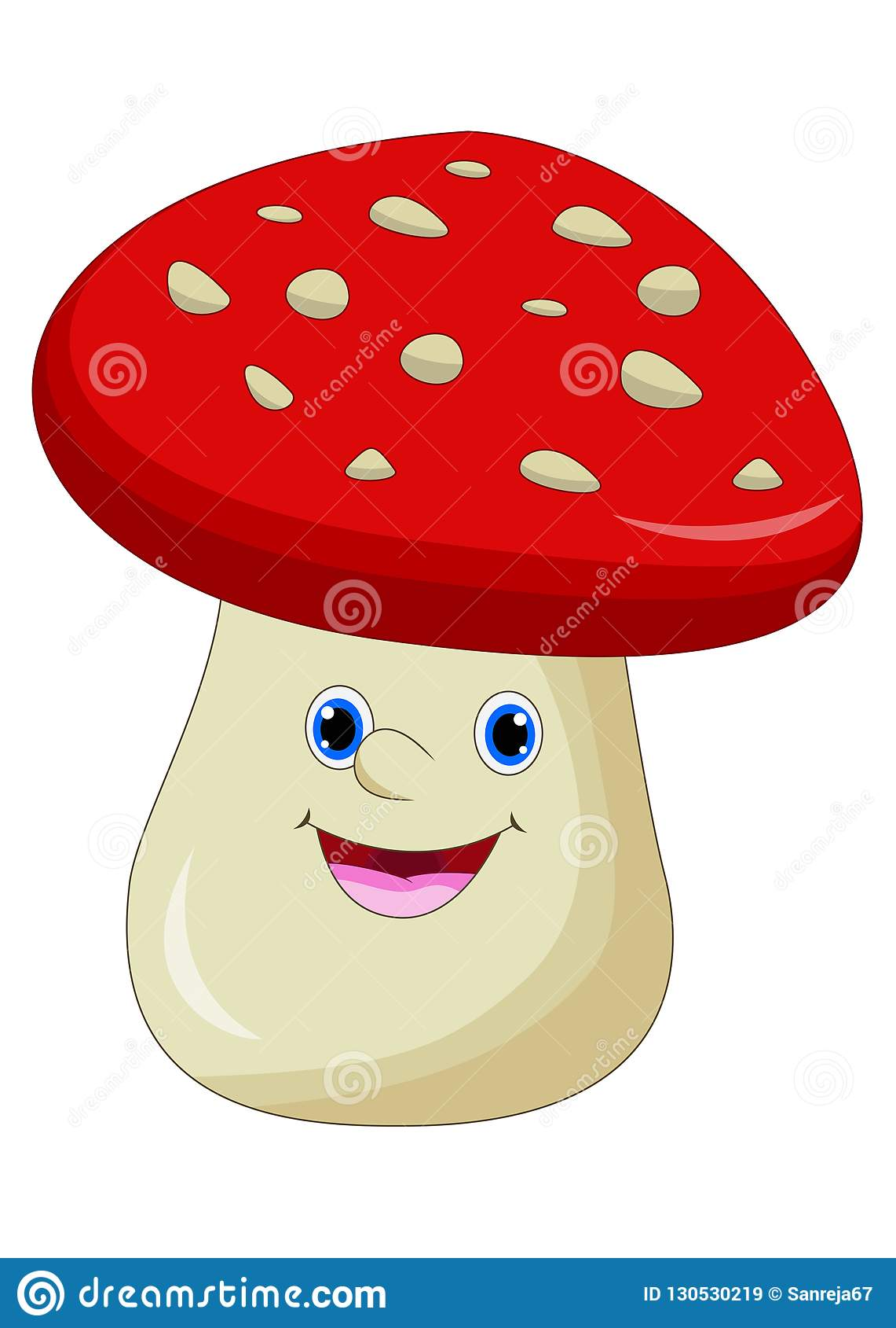 Cartoon Mushroom Cartoon Vector