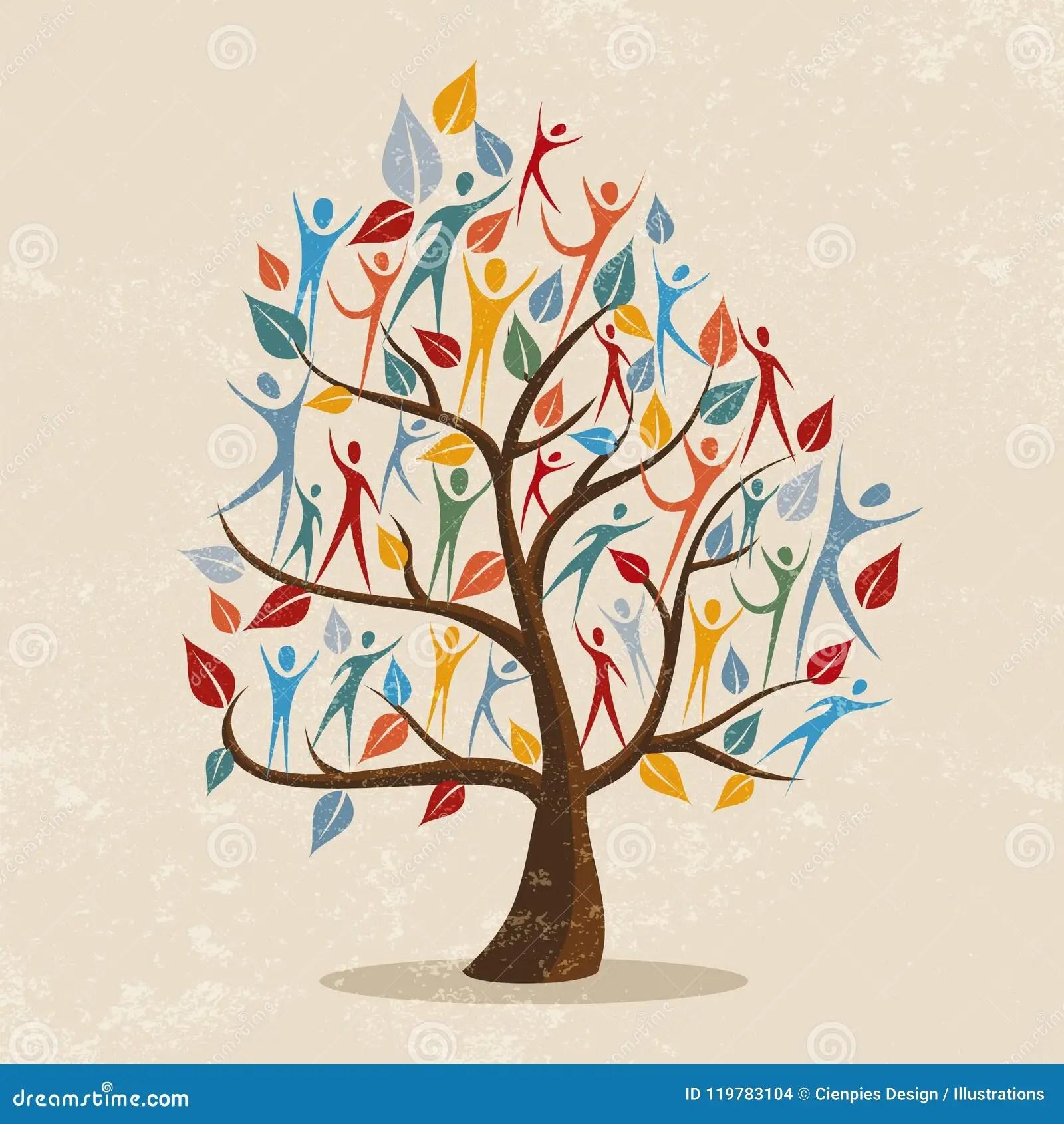 Illustration De Concept D Arbre Genealogique Avec L Icone