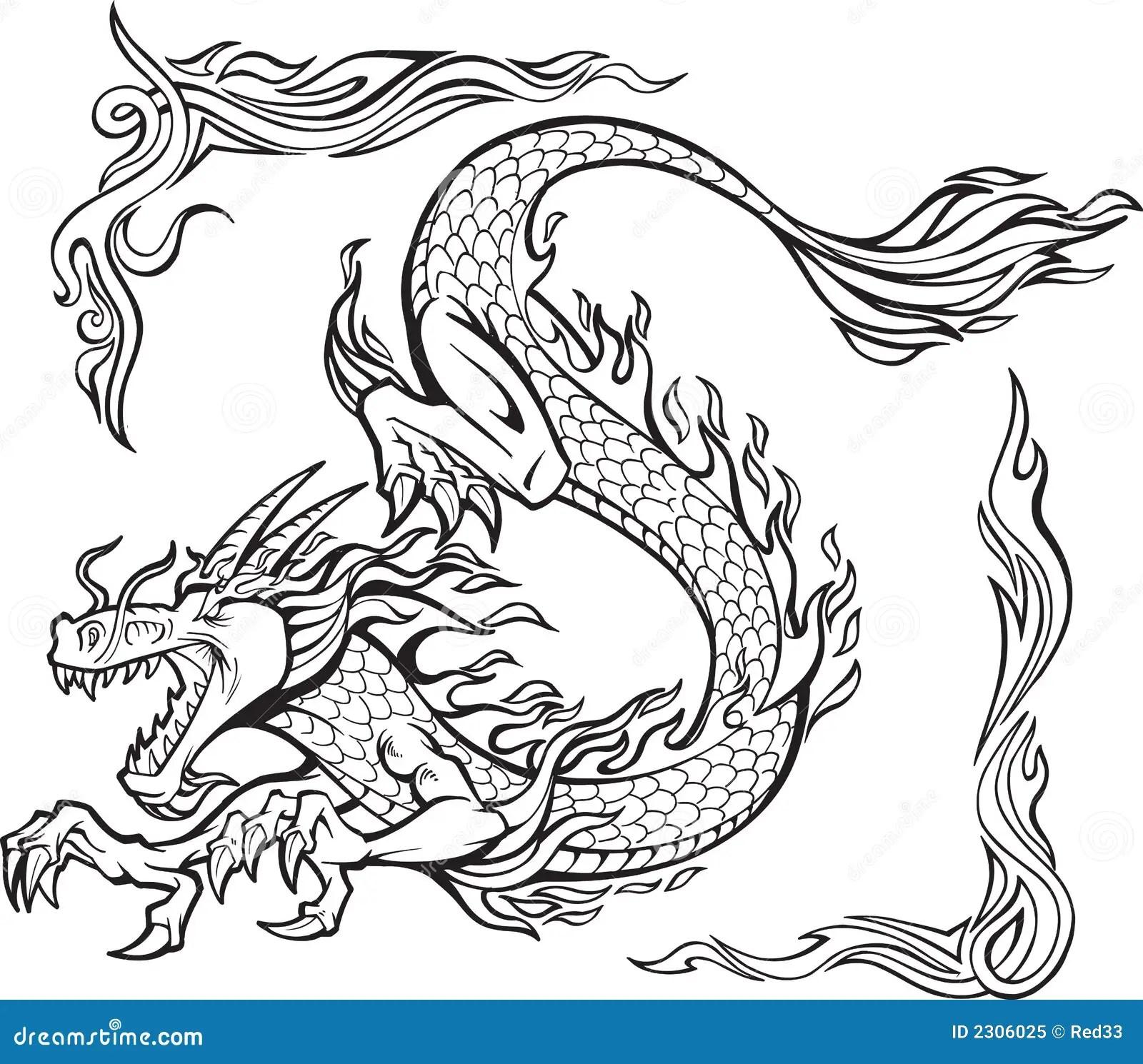 Illustration De Dragon D Incenillustration De Vecteur