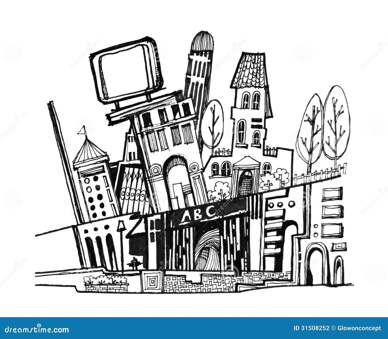 Illustration De Graphique De Ville Photo Stock