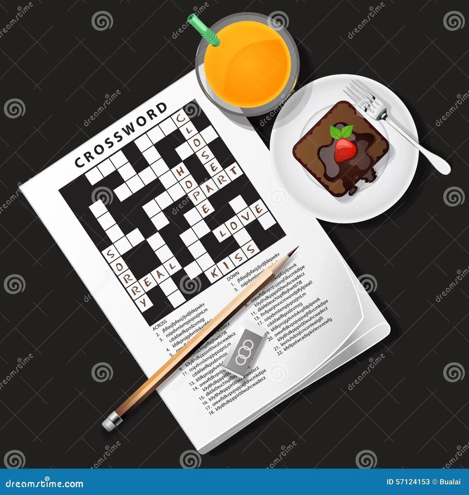 illustration de jeu de mots croise avec le jus d orange et le chocolat c illustration de vecteur illustration du croise mots 57124153