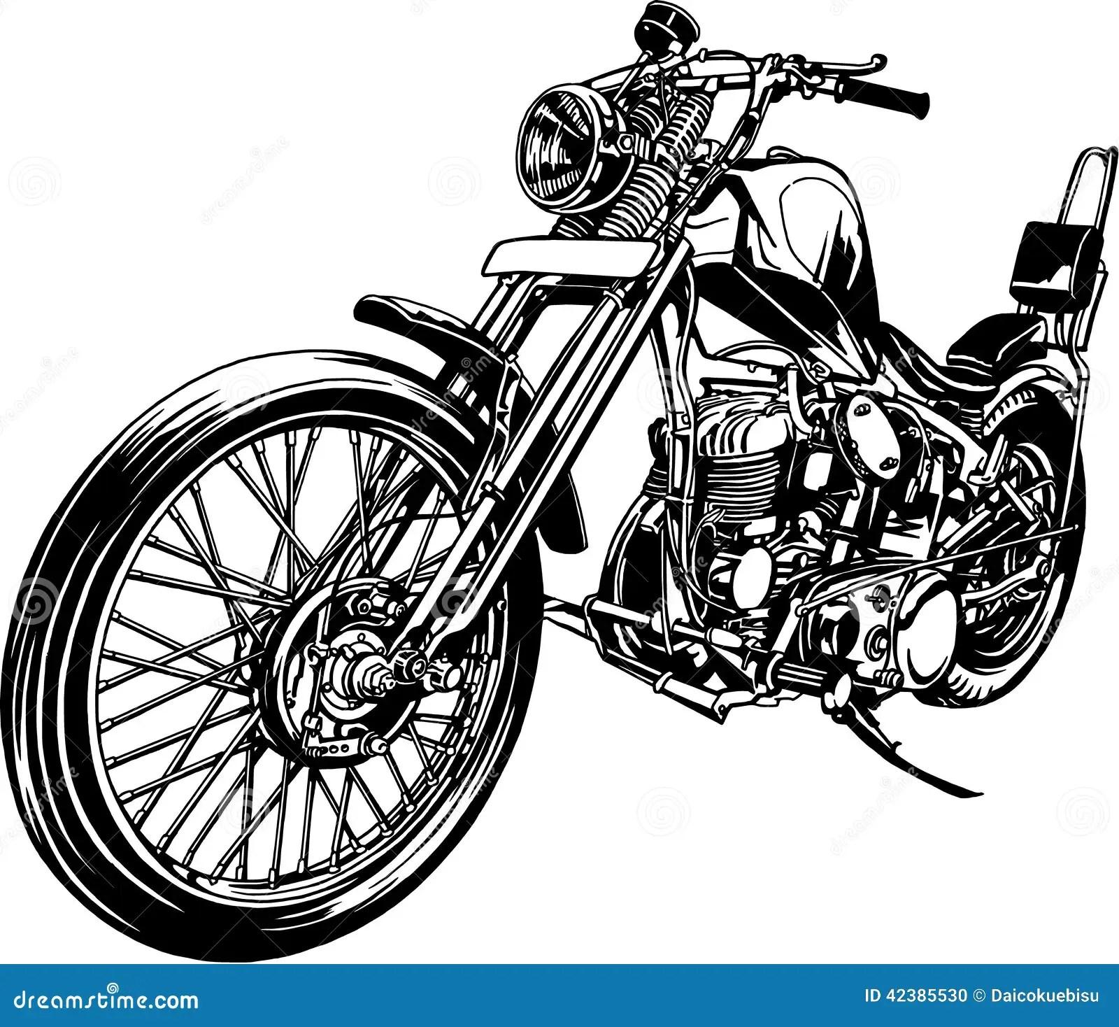 Illustration De La Moto Illustration De Vecteur