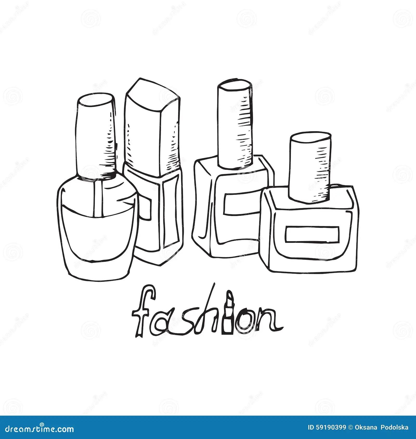 Illustration Des Cosmetiques Vernis A Ongles Dessin D