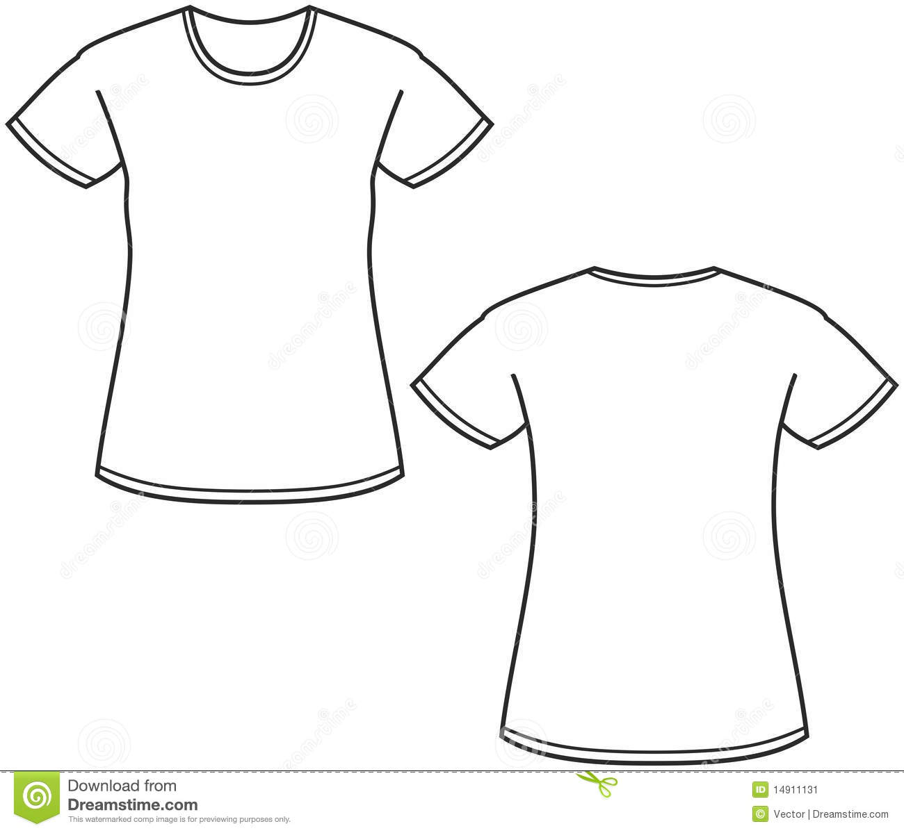 Illustration Du T Shirt Des Femmes Illustration De Vecteur