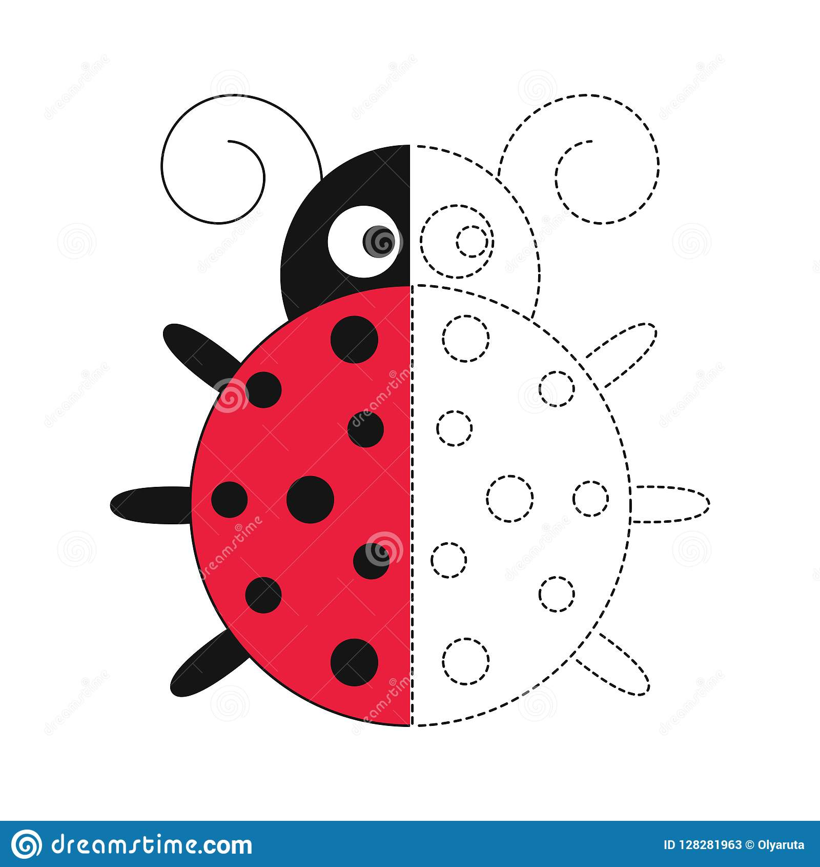 Illustration Of Funny Ladybird For Toddlers Stock Vector