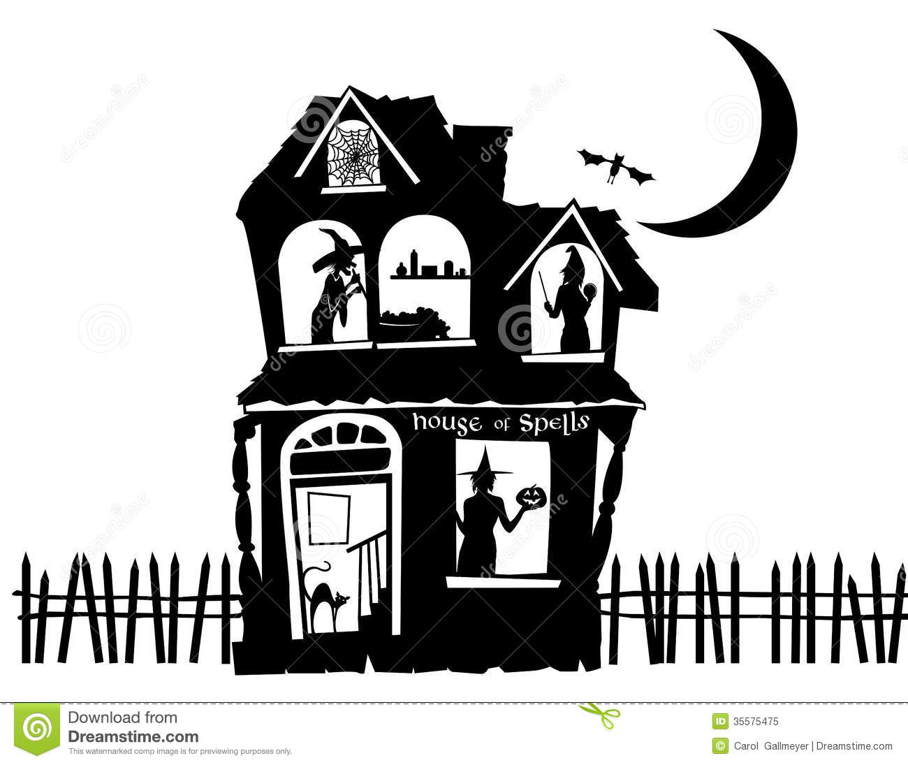 Illustration Of A Haunted House Royalty Free Stock Photo