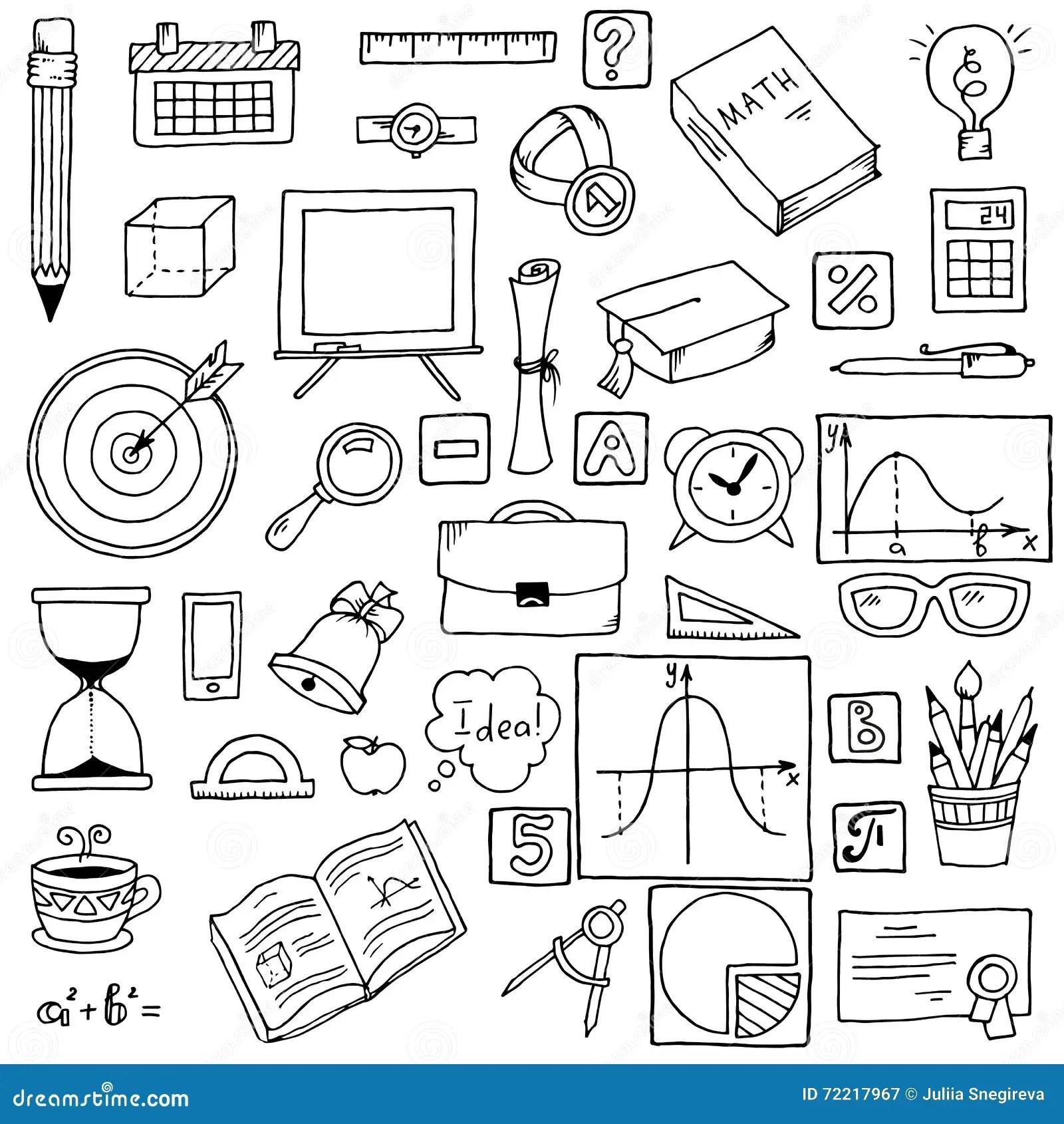 Illustration Of Icons On A Mathematics Theme Stock Vector