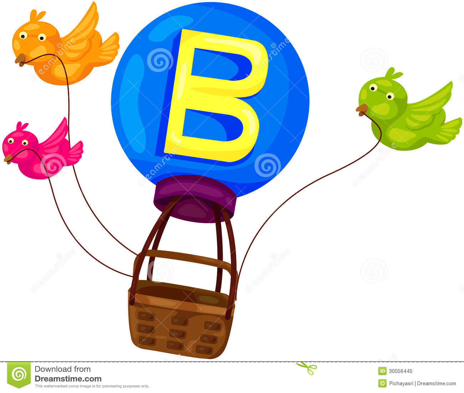 Alphabet B For Bird Royalty Free Stock Photo