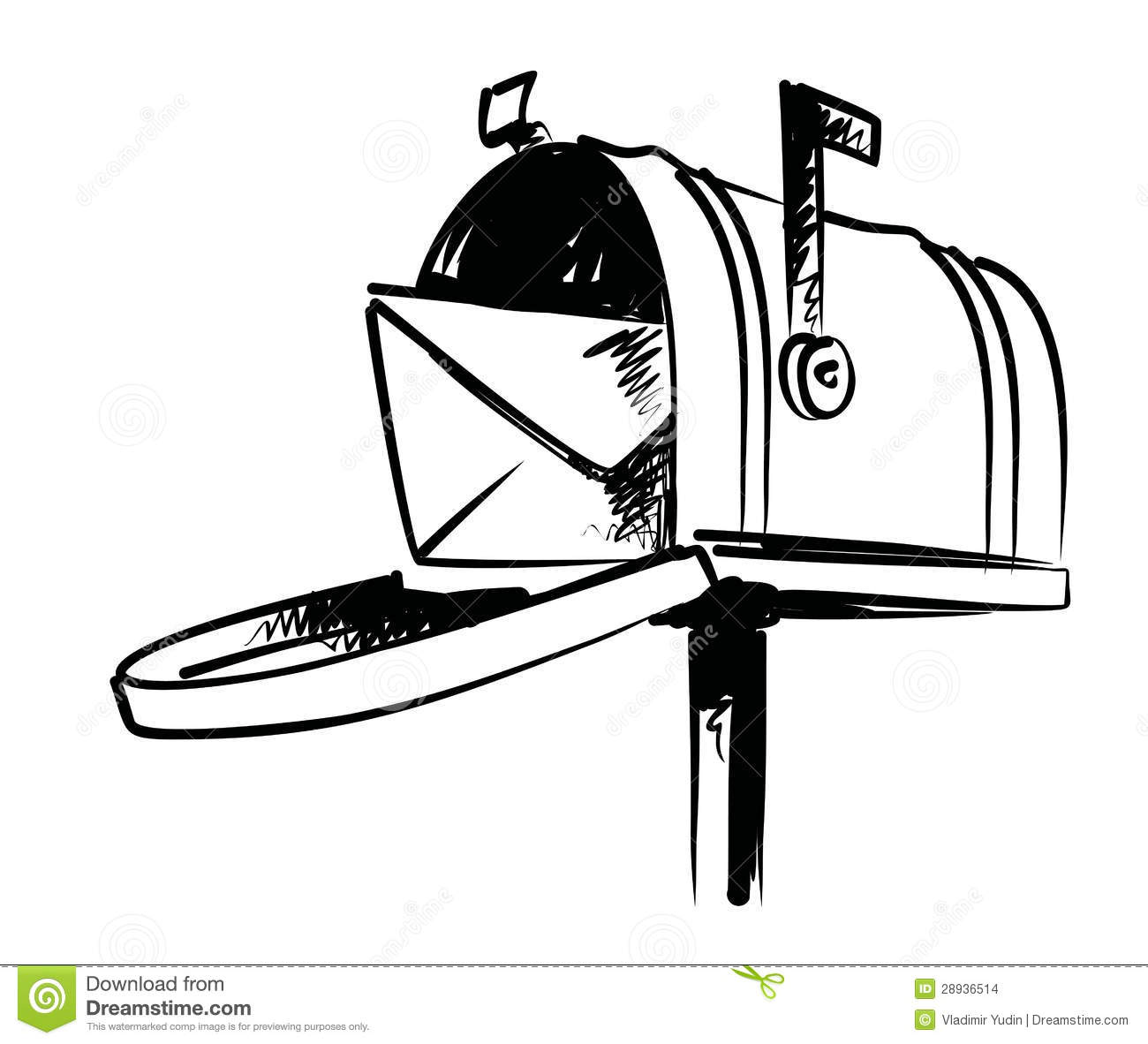 Illustration Of Mailbox Stock Images