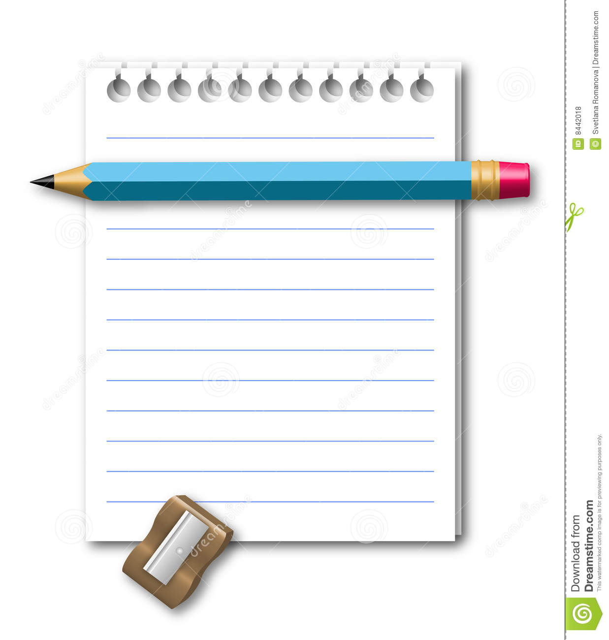 Illustration Of Notebook Stock Vector Image Of Hole