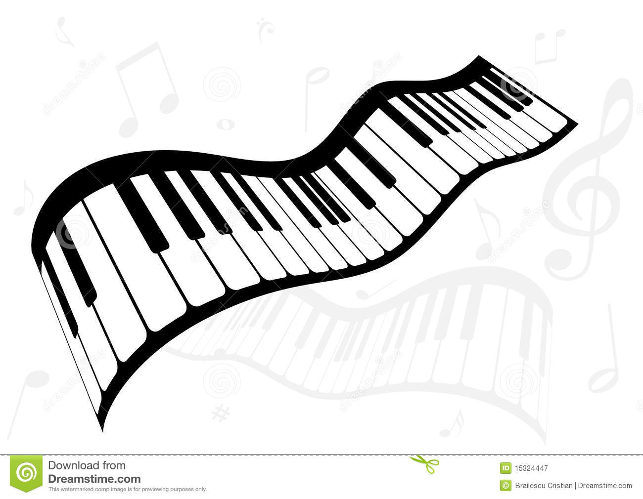 Illustration Of A Piano And Music Notes Stock Vector