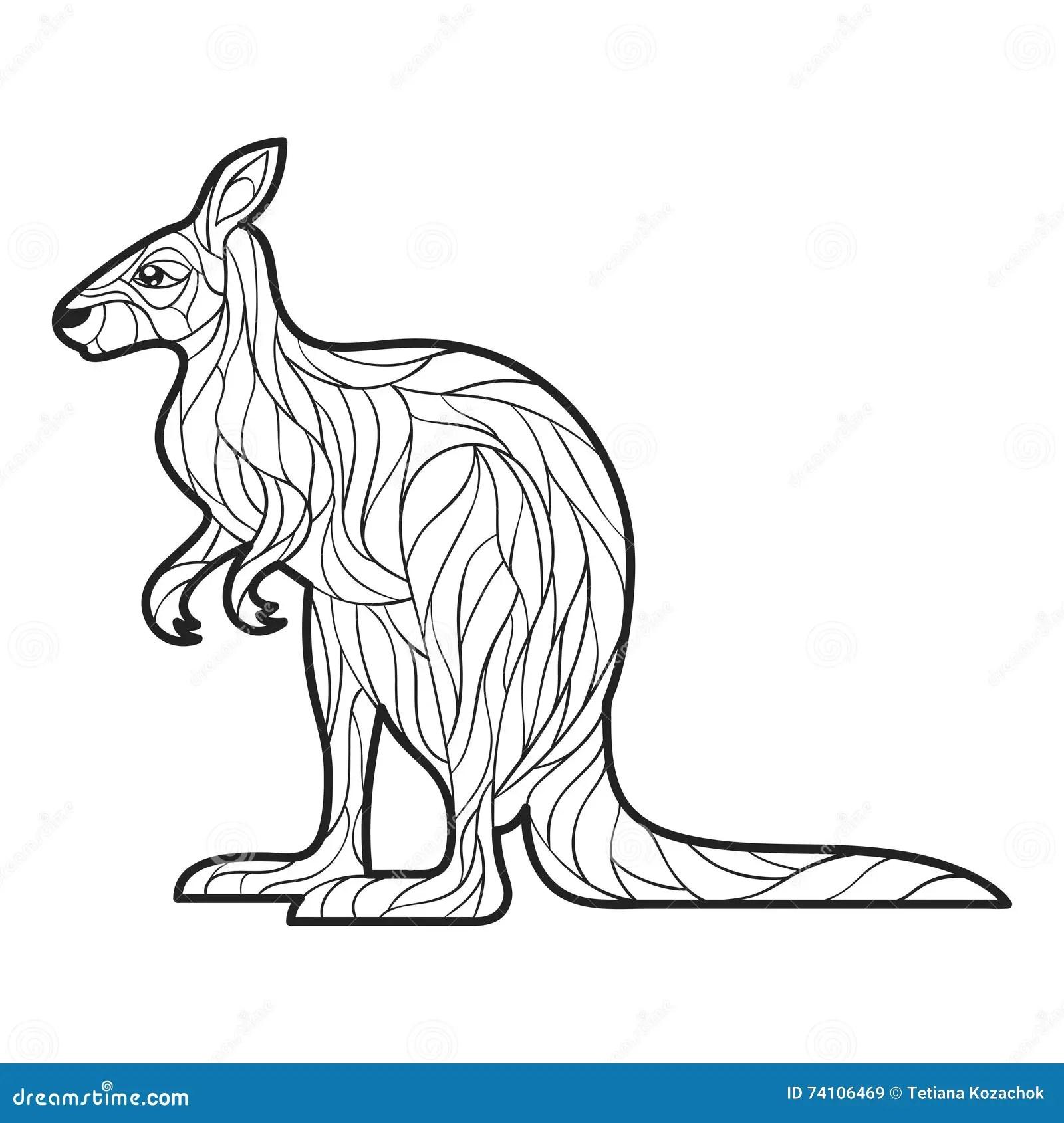 Zentangle Stylise De Kangourou Illustration De Vecteur