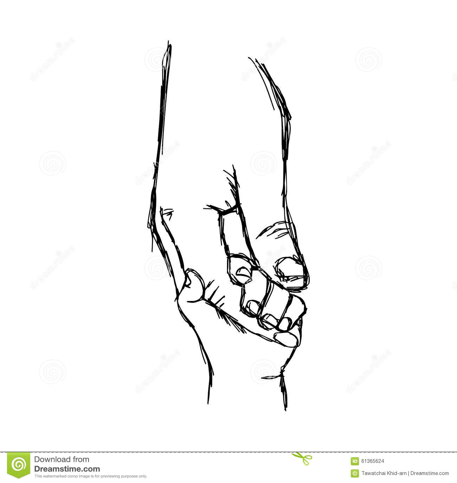 Illustration Vector Doodle Hand Drawn Sketch Of Parent