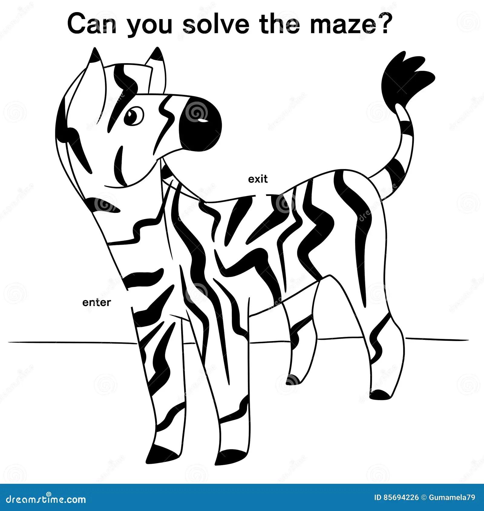 Illustration Of A Zebra Maze Stock Illustration