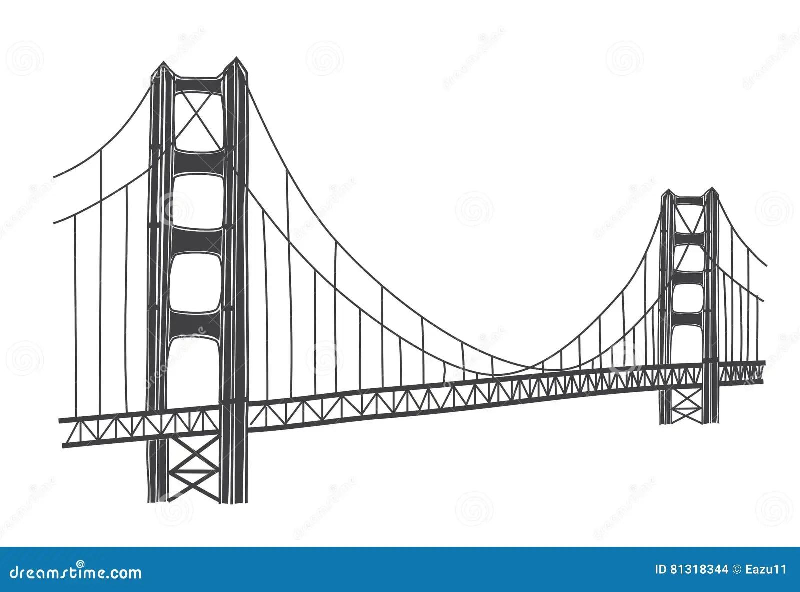 Illustrazione Di Golden Gate Bridge San Francisco