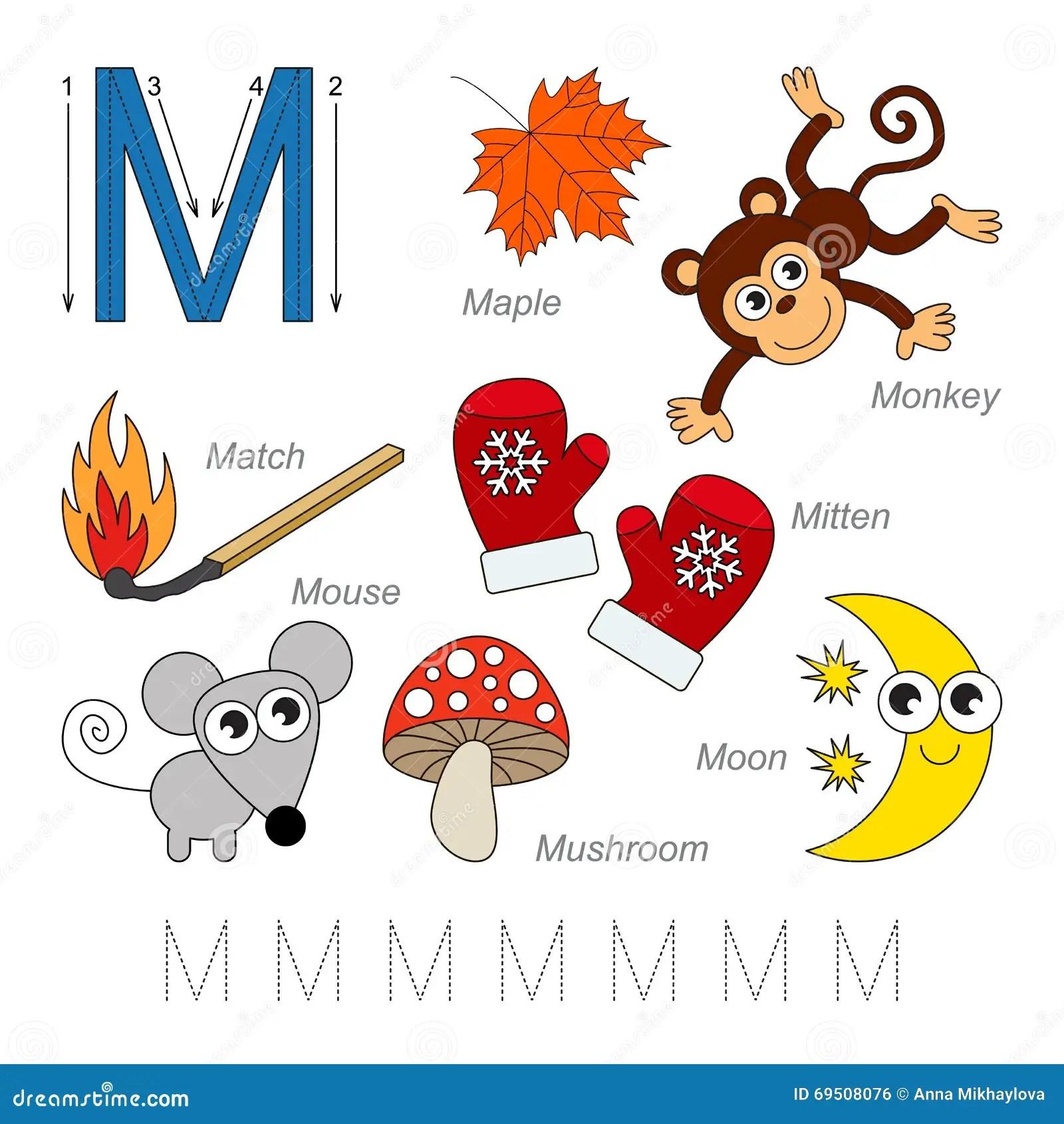 Imagenes Para La Letra M Ilustracion Del Vector Ilustracion De Rastro