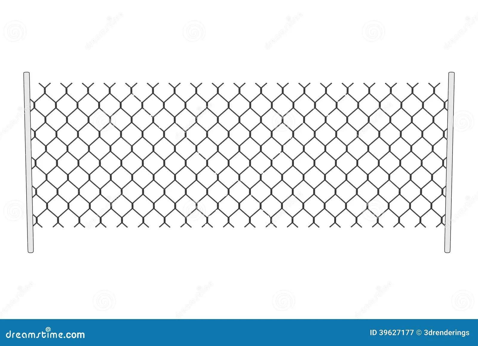 Image Of Chain Fence Stock Illustration Illustration Of Toon