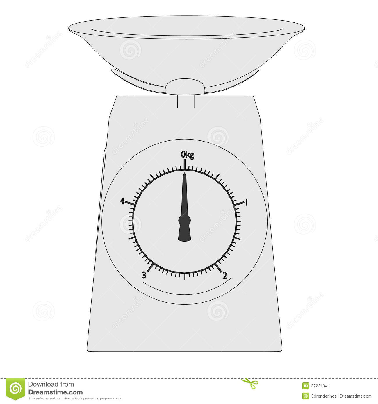 Image Of Kitchen Scales Stock Image