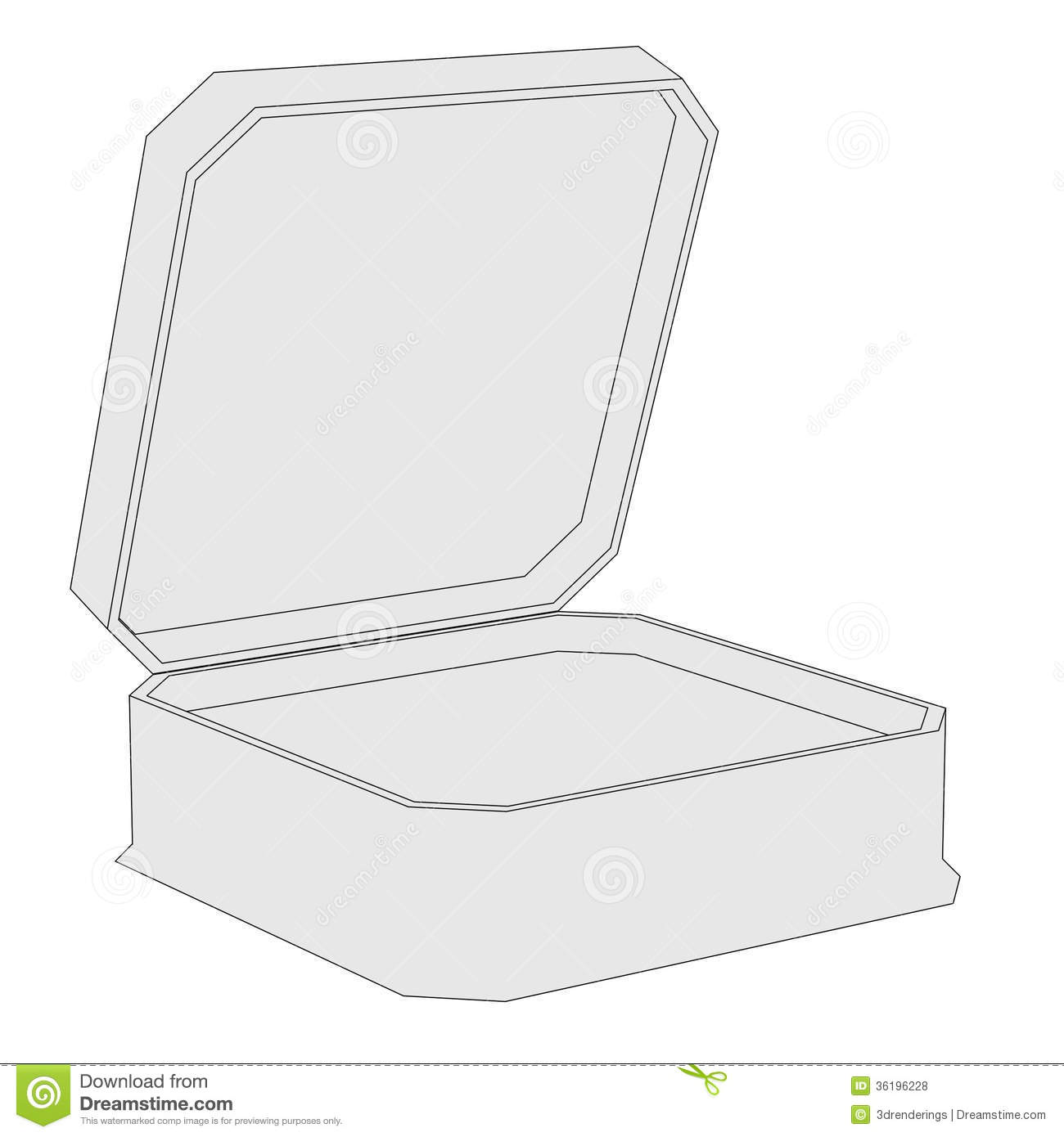 Image Of Small Box Stock Illustration Image Of Hand