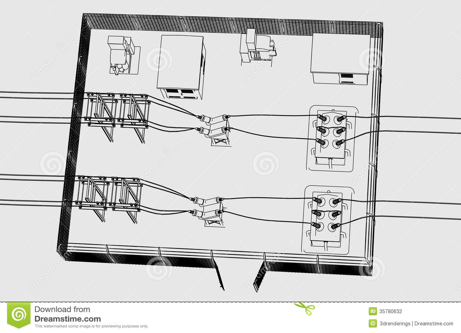 Image Of Substation Place Stock Illustration Illustration
