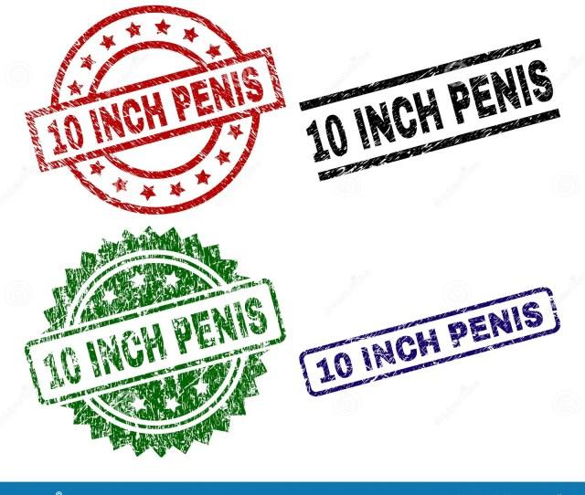 Grunge Textured  Inch Penis Stamp Seals