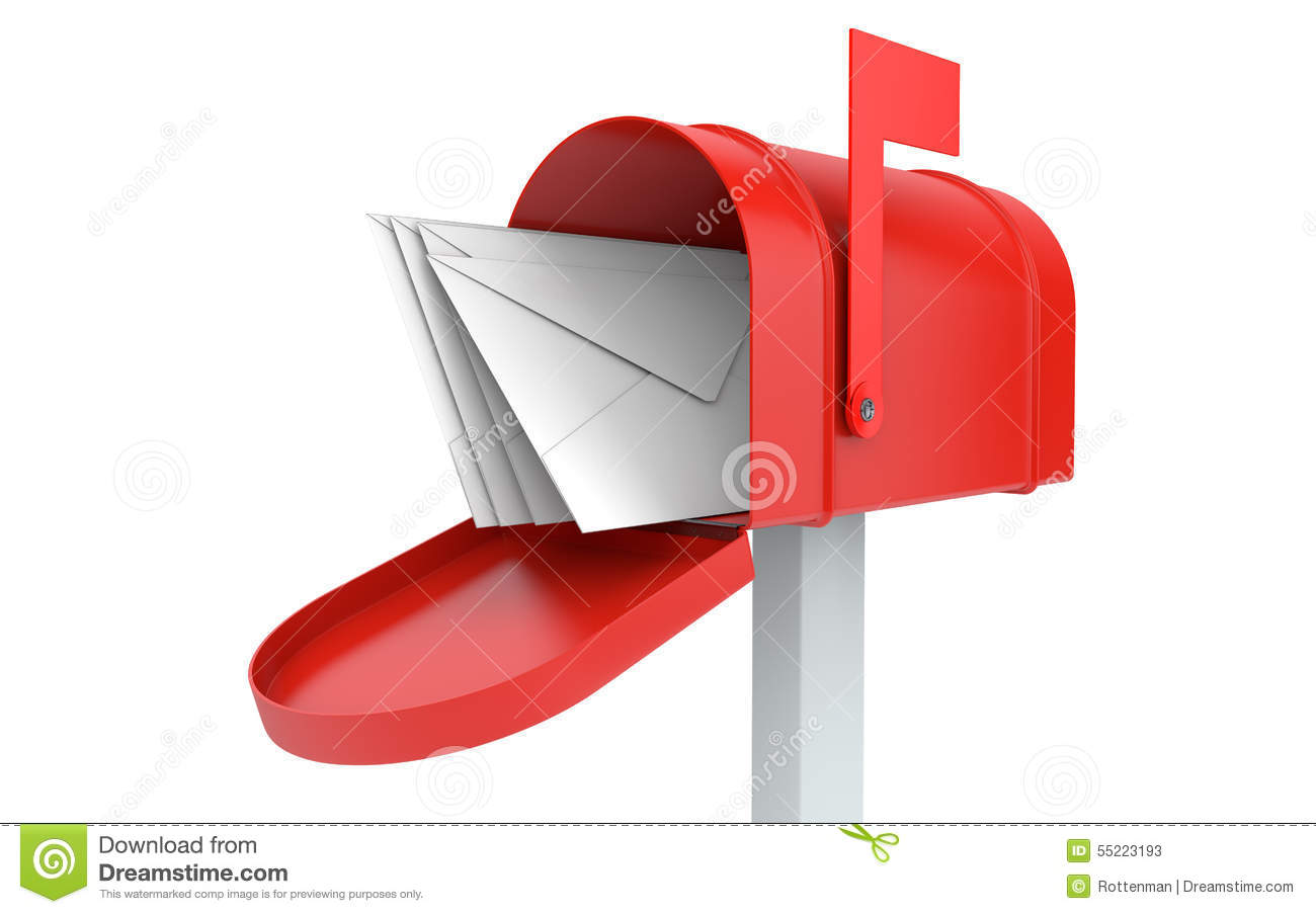 Mailbox Isolated Royalty Free Stock Photo CartoonDealer