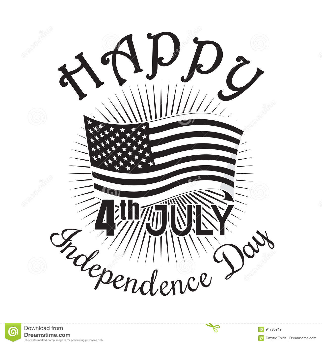 Independence Day Icon 4th Of July Fourth Of July Stock