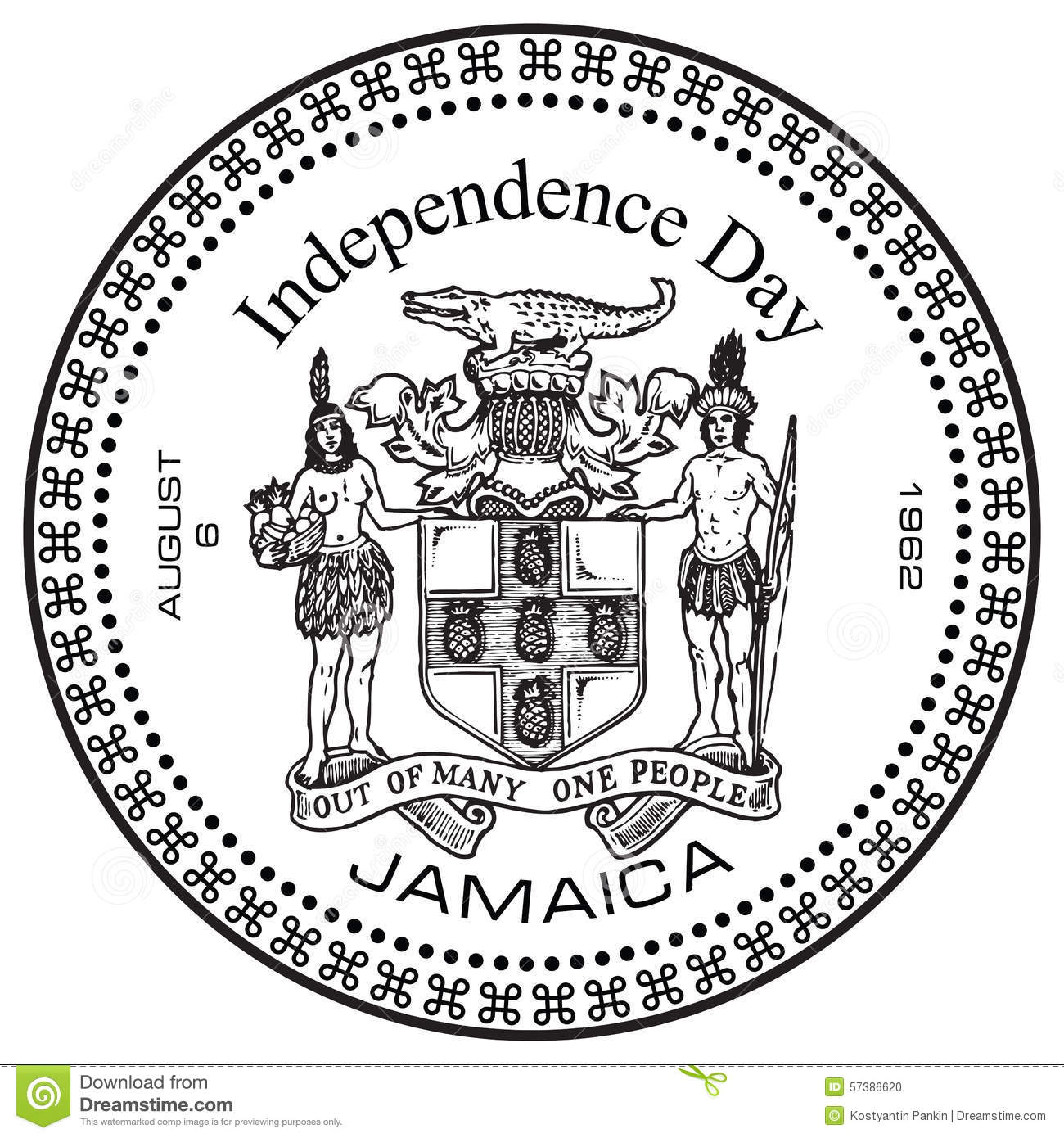 Independence Day Jamaica Stock Vector