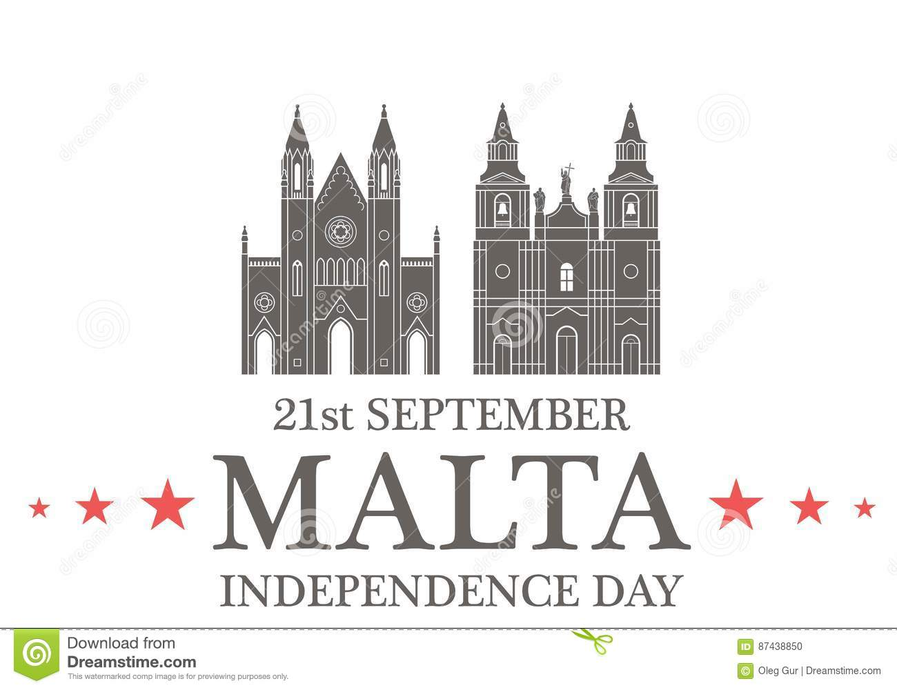Independence Day Malta Stock Vector Illustration Of
