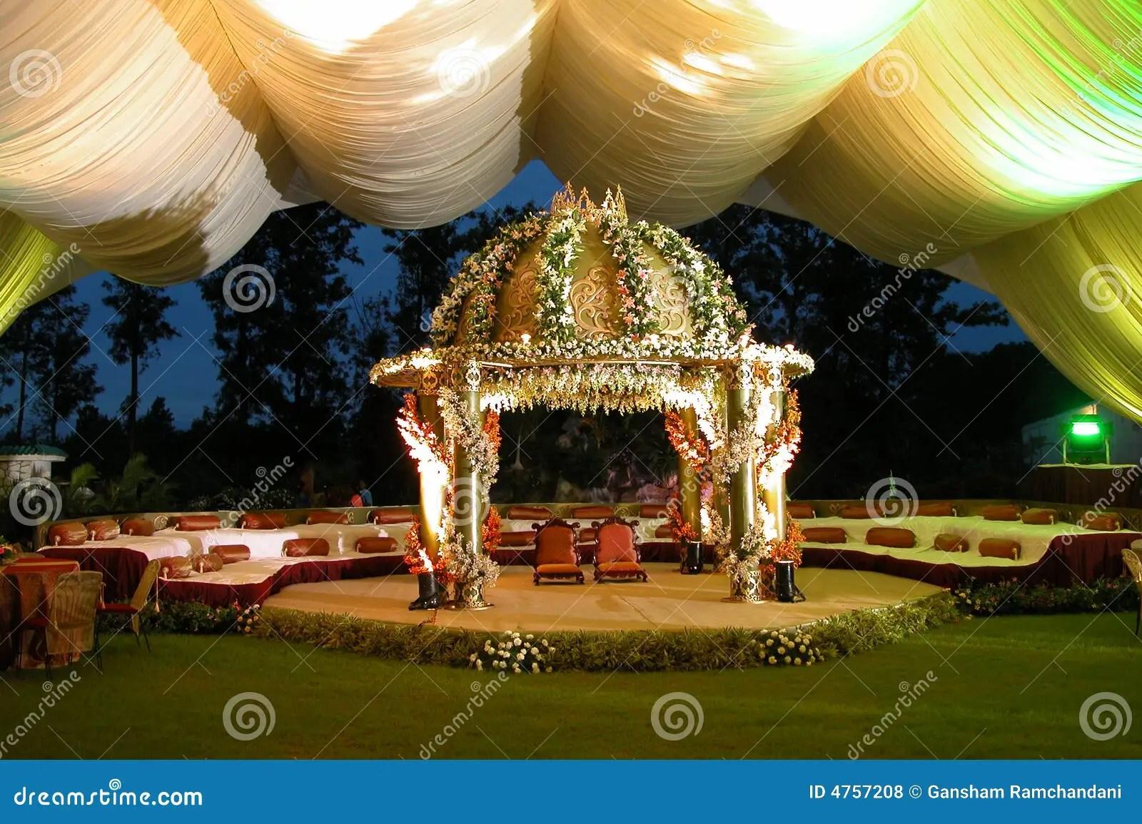 Indian Hindu Wedding StageMan Royalty Free Stock Photos