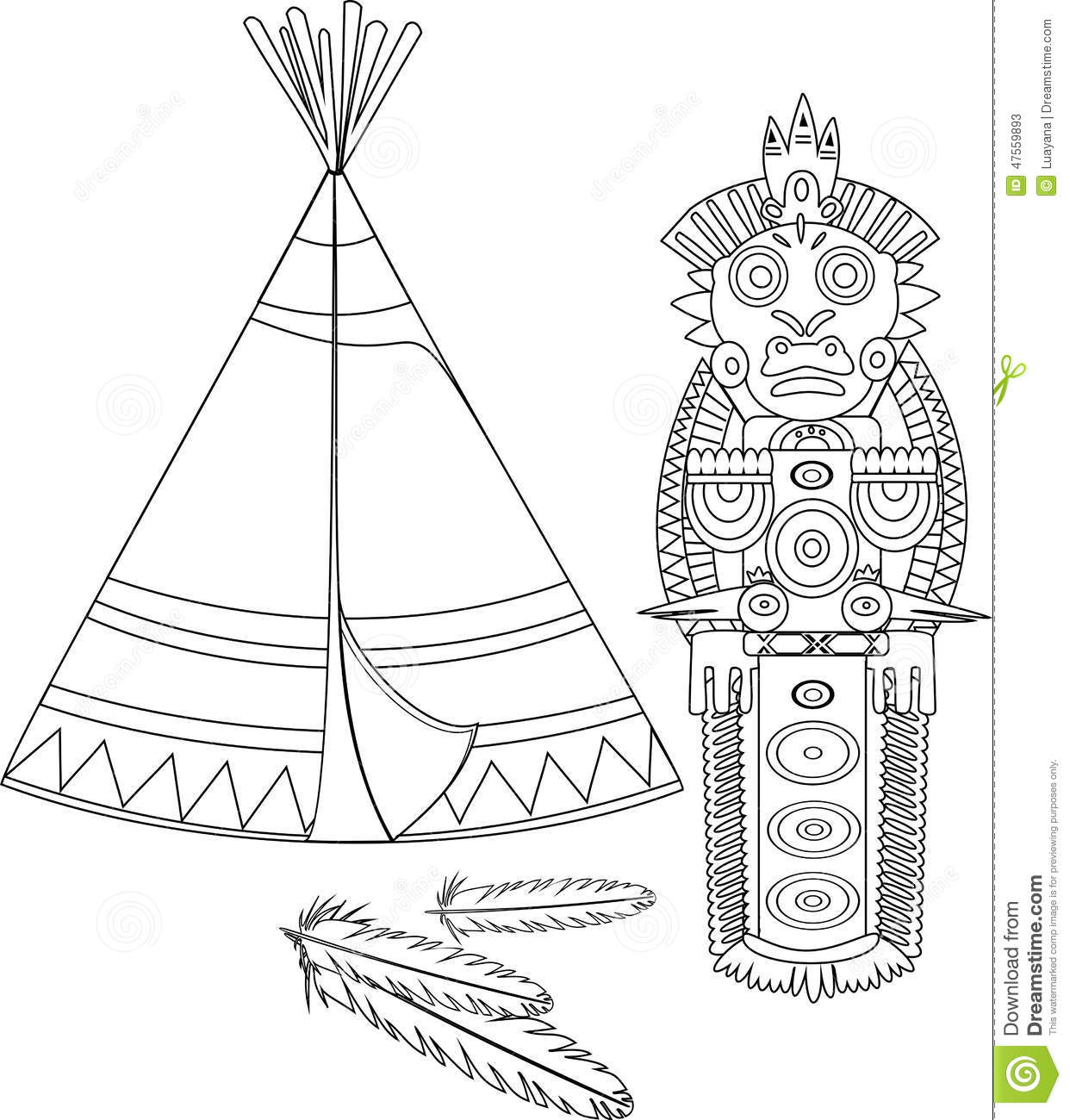 Indian Tepee Stock Vector Illustration Of House Dwelling