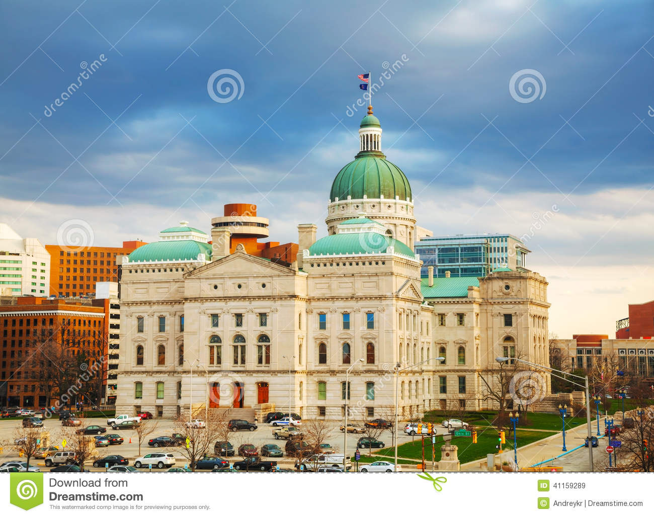 Indiana State Capitol Building Stock Image