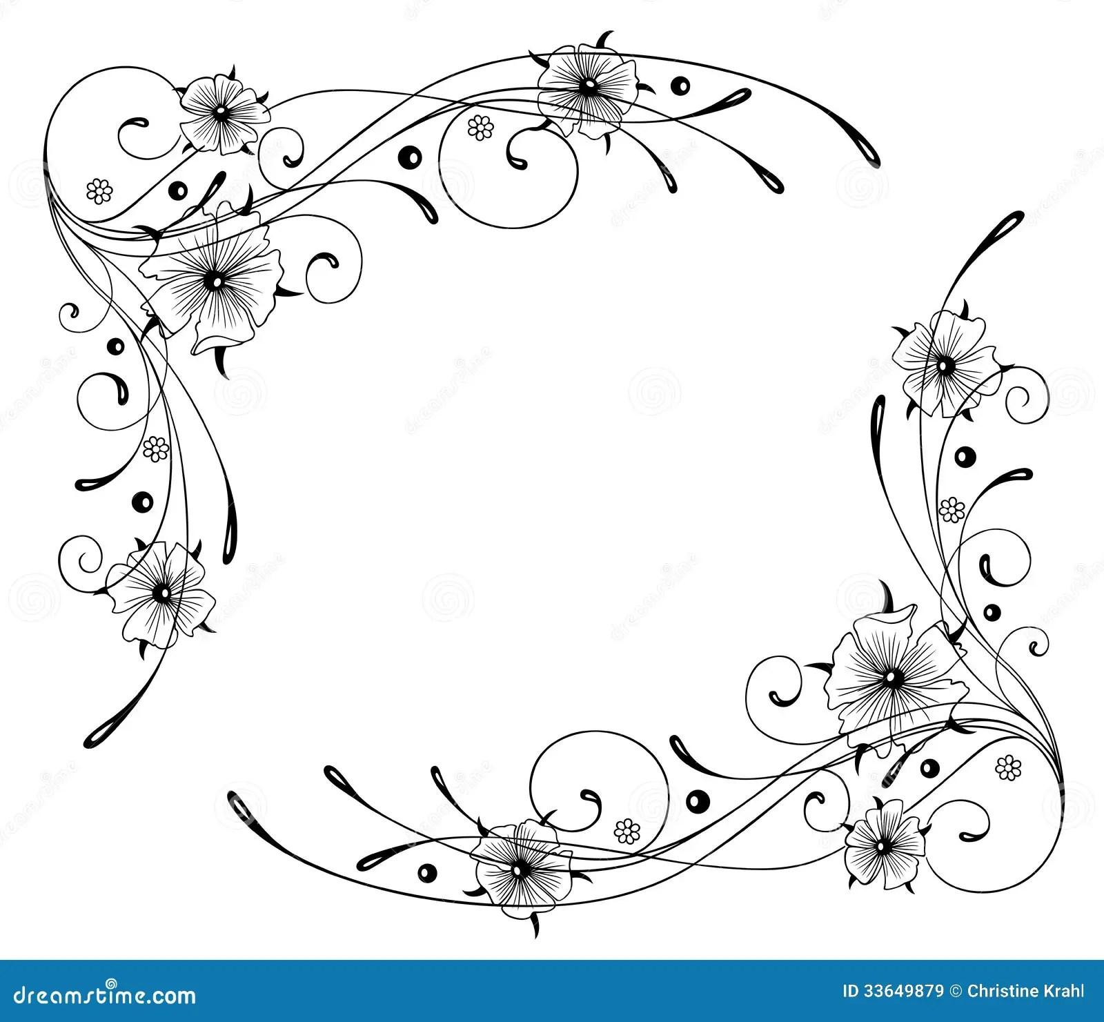 Indiankrasse Blommor Ram Vektor Illustrationer