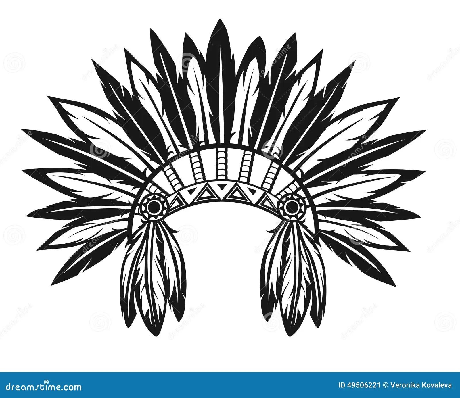 Indisk Huvudbonad Vektor Illustrationer Illustration Av