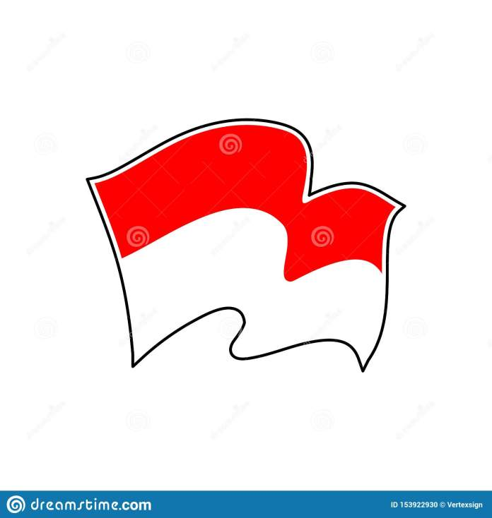 Indonesia National Flag Vector Illustration Jakarta Stock Vector Illustration Of Government Icon 153922930